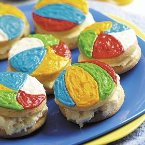 Beach Ball Ice Cream Sandwiches