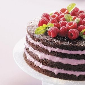 Light Chocolate Torte with Raspberry Filling