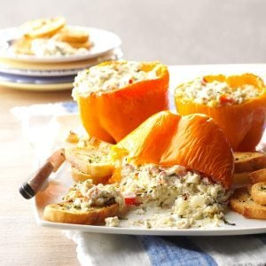 Goat Cheese Spread in Roasted Pepper Cups