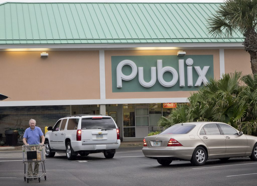 A Customer Leaves the Publix Market