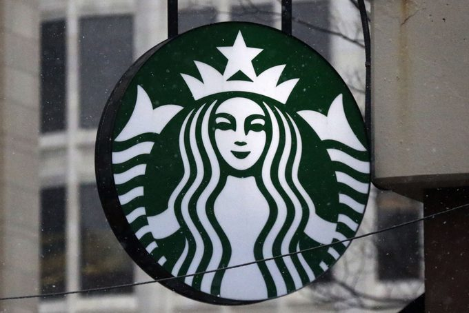 Starbucks logo on a shop