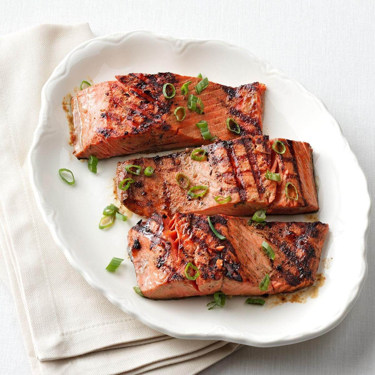 Recipes Salmon: 1-2-3 Grilled Salmon For Two Recipe