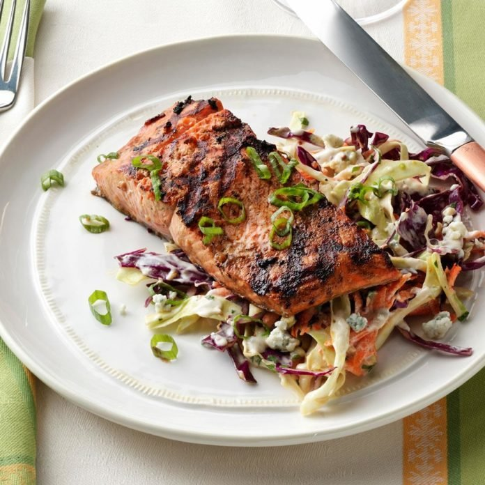 1-2-3 Grilled Salmon