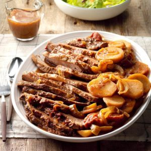 All-Day Brisket with Potatoes