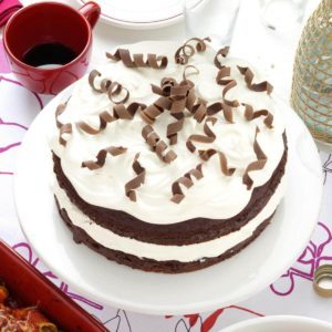 Almond Chocolate Torte with Chocolate Curls