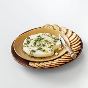 """Almond """"Feta"""" with Herb Oil"""
