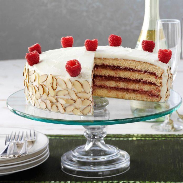 Almond Raspberry Torte
