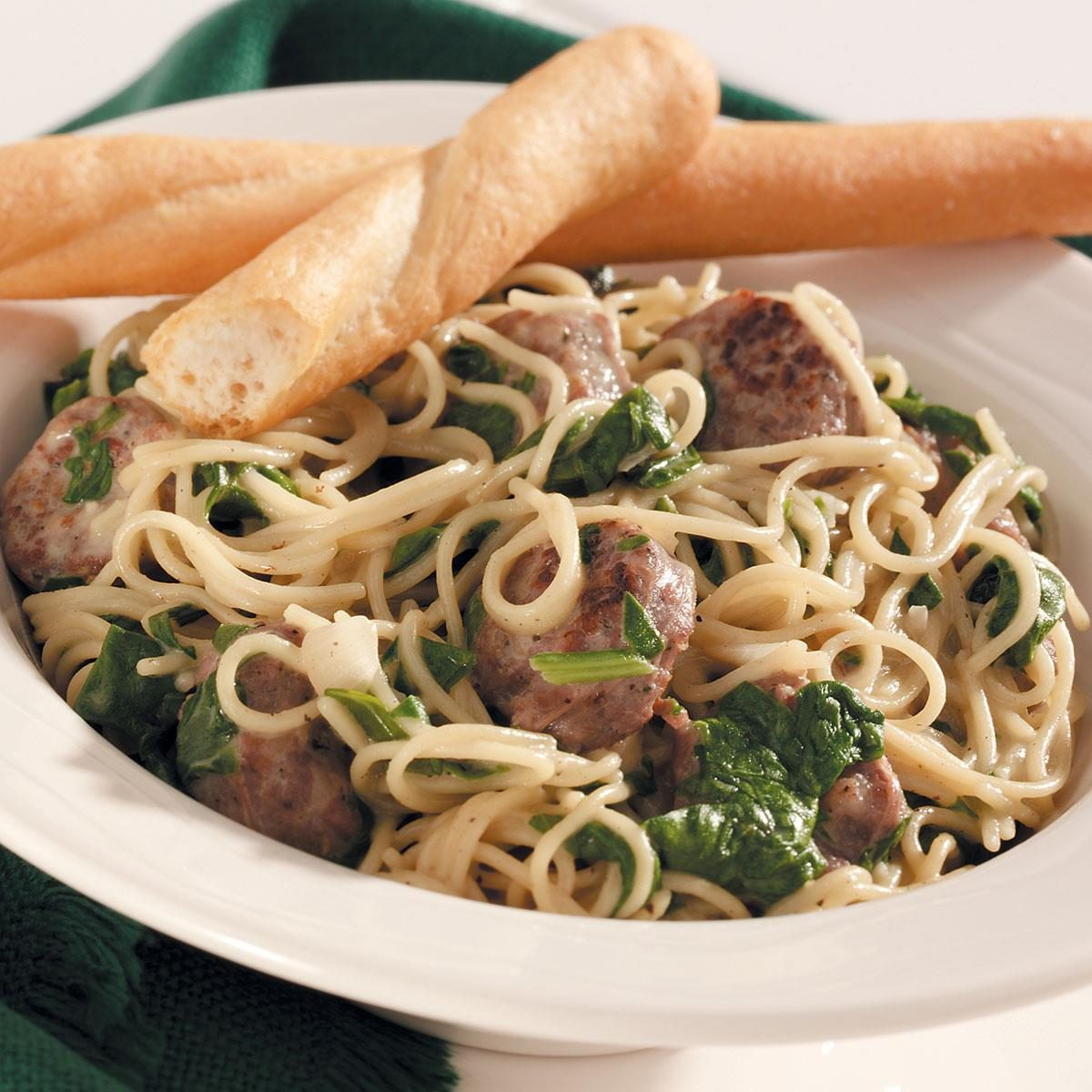 angel hair pasta with chicken recipe taste of home angel hair pasta with sausage spinach recipe taste of home