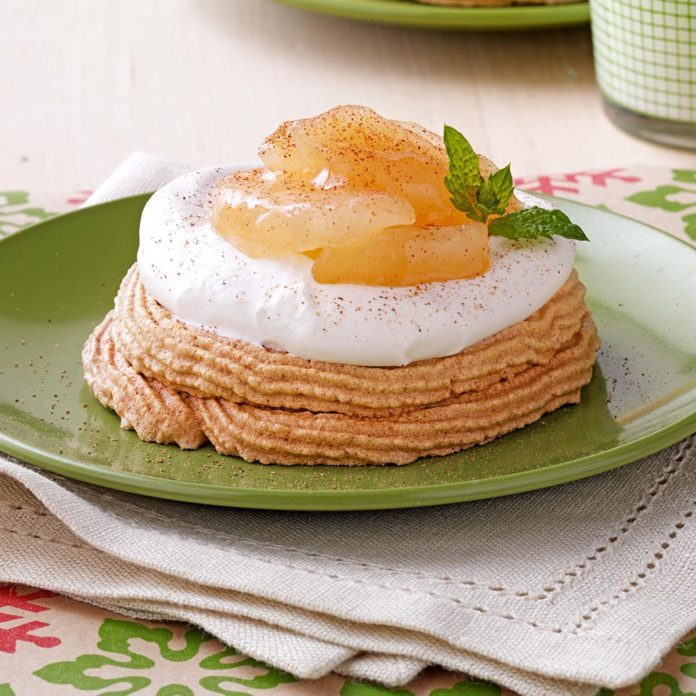 Apple & Cream Meringues