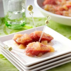 Apple Sausage Appetizers