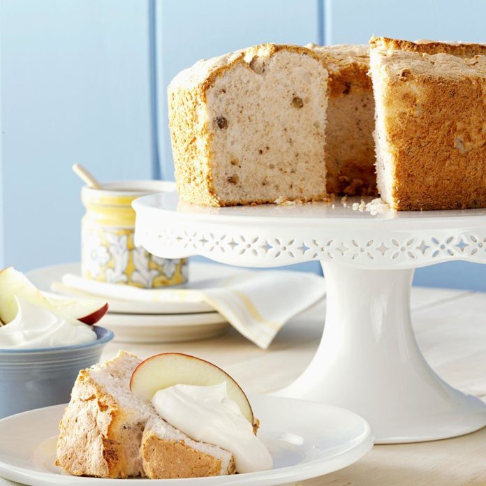 Apple Spice Angel Food Cake