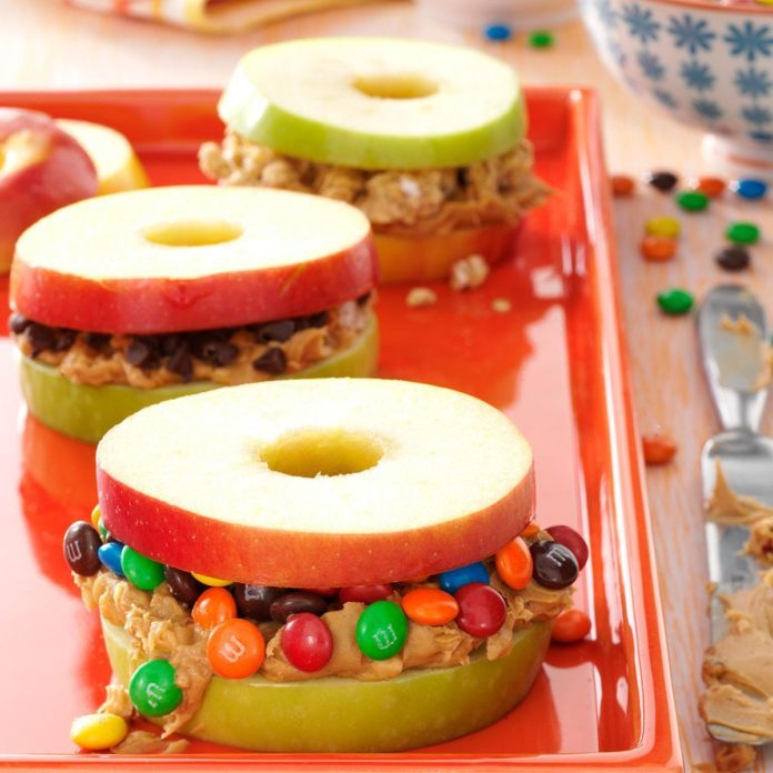 Wisconsin: Apple and Peanut Butter Stackers