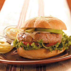 Apple 'n' Pork Burgers