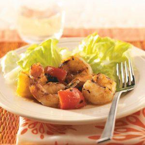Apricot-Pineapple Glazed Shrimp