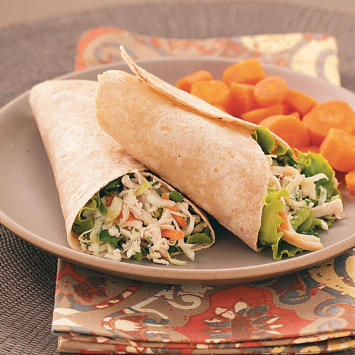 Asian Chicken Salad Wraps Recipe Taste Of Home