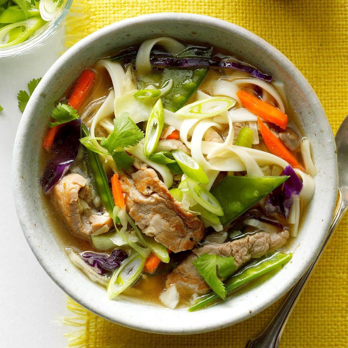 Asian Wedding Food Menu: Asian Long Noodle Soup Recipe