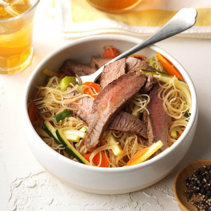 Asian Noodle & Beef Salad