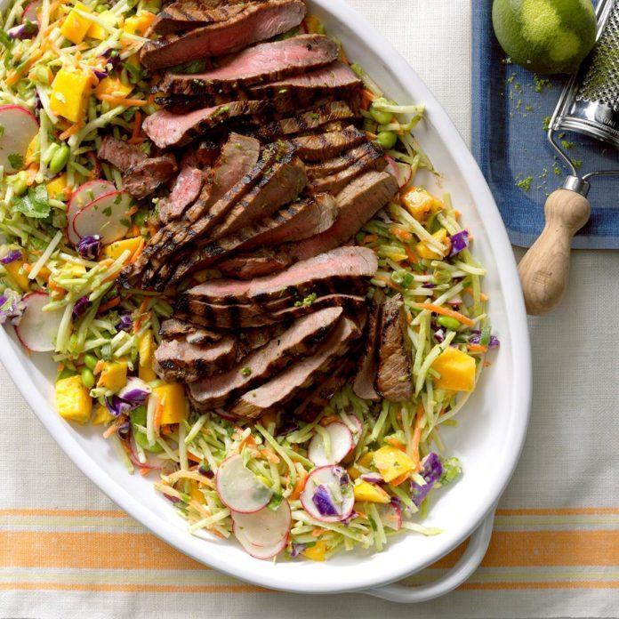 California: Asian Slaw with Steak