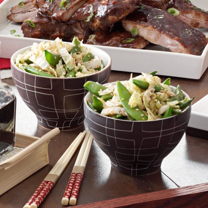 Asian Sugar Snap Peas and Cabbage