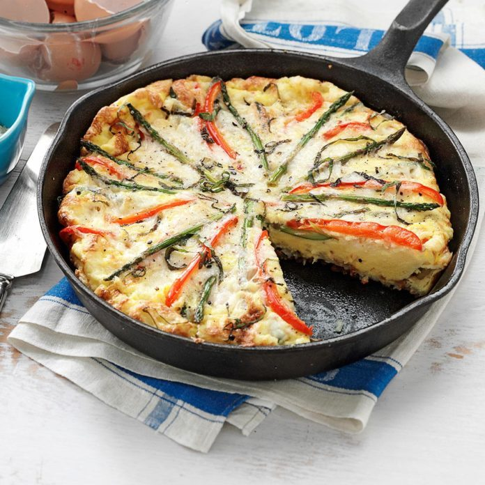 Asparagus and Red Pepper Frittata