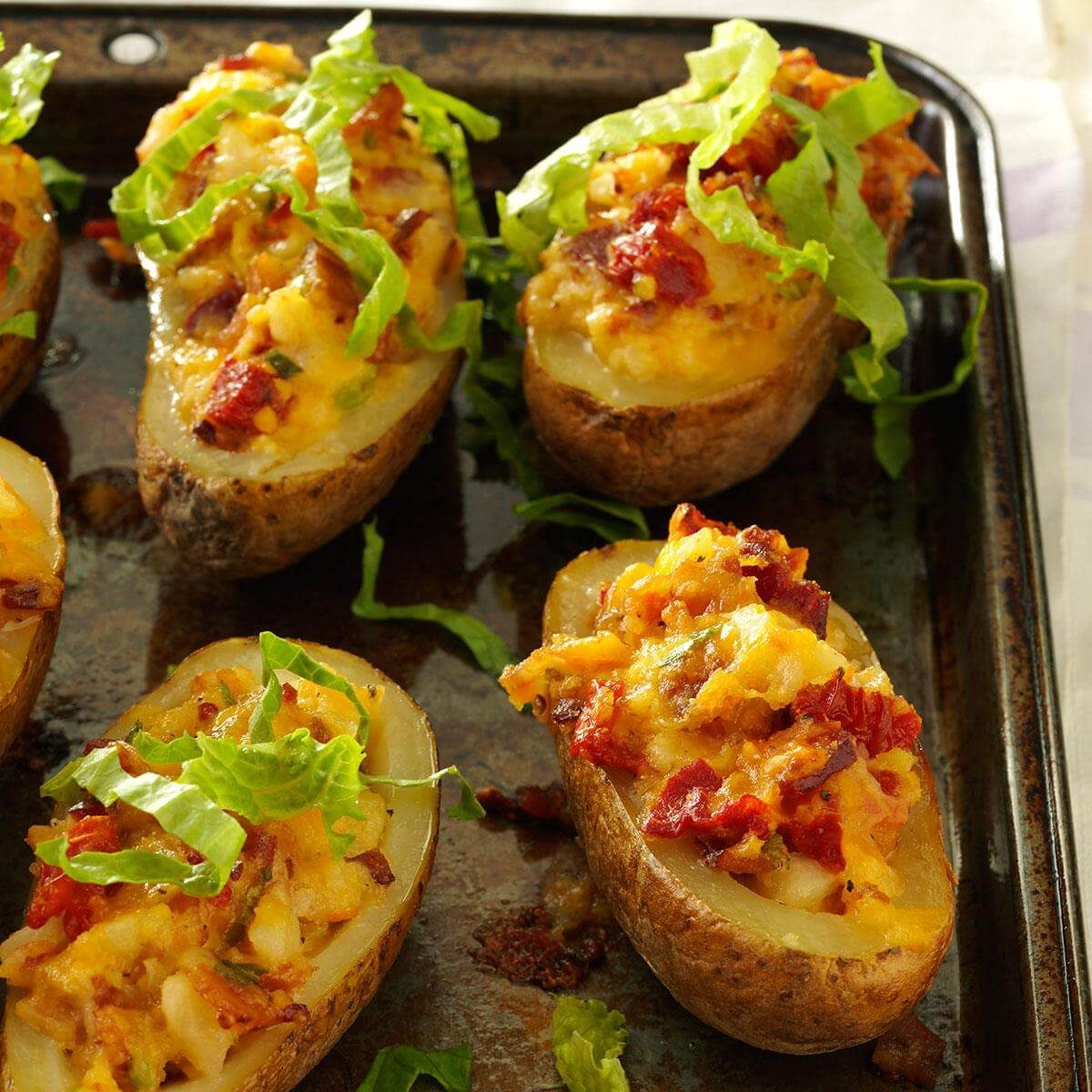 The Ultimate Twice Baked Potatoes: BLT Twice-Baked Potatoes Recipe