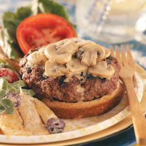 Bacon-Blue Cheese Stuffed Burgers for Two
