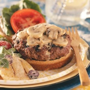 Bacon-Blue Cheese Stuffed Burgers