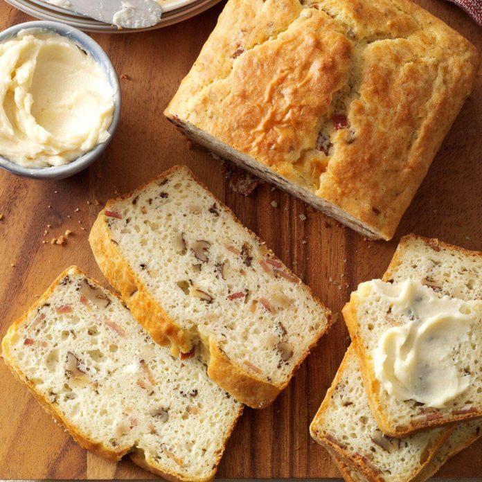 Nebraska: Bacon Walnut Bread with Honey Butter