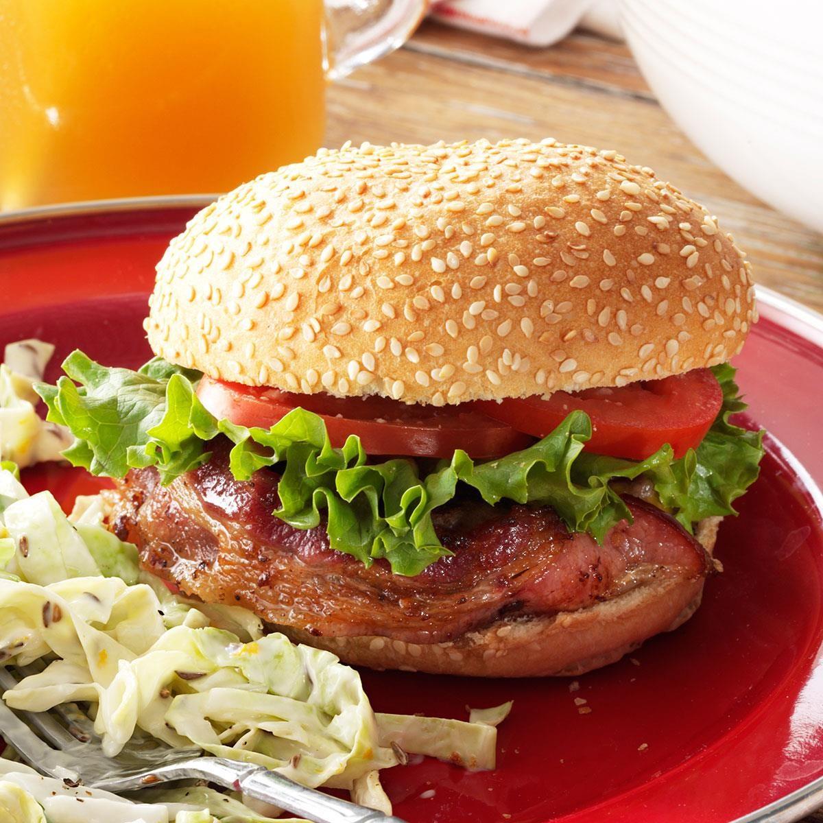 bacon wrapped hamburgers recipe taste of home