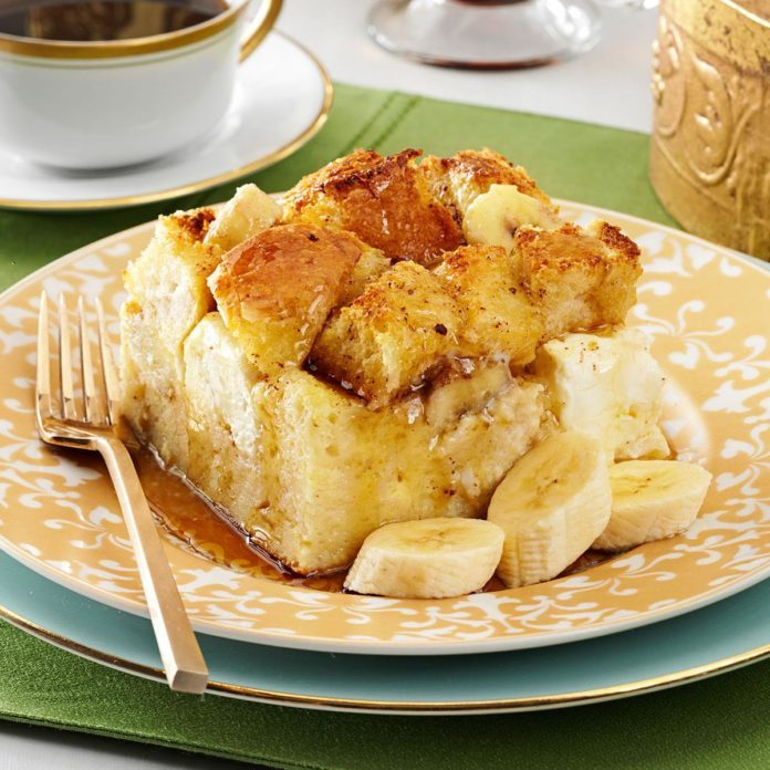 Baked Banana French Toast