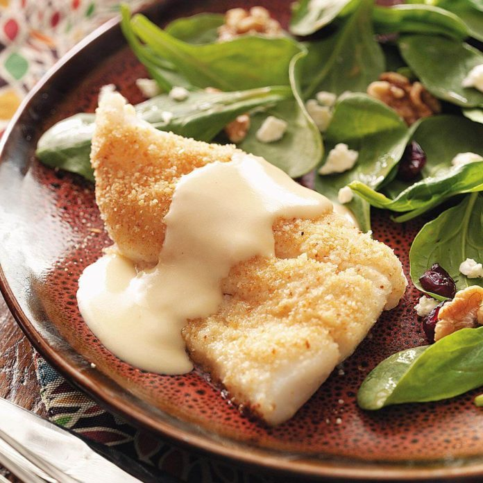 Baked Fish with Cheese Sauce