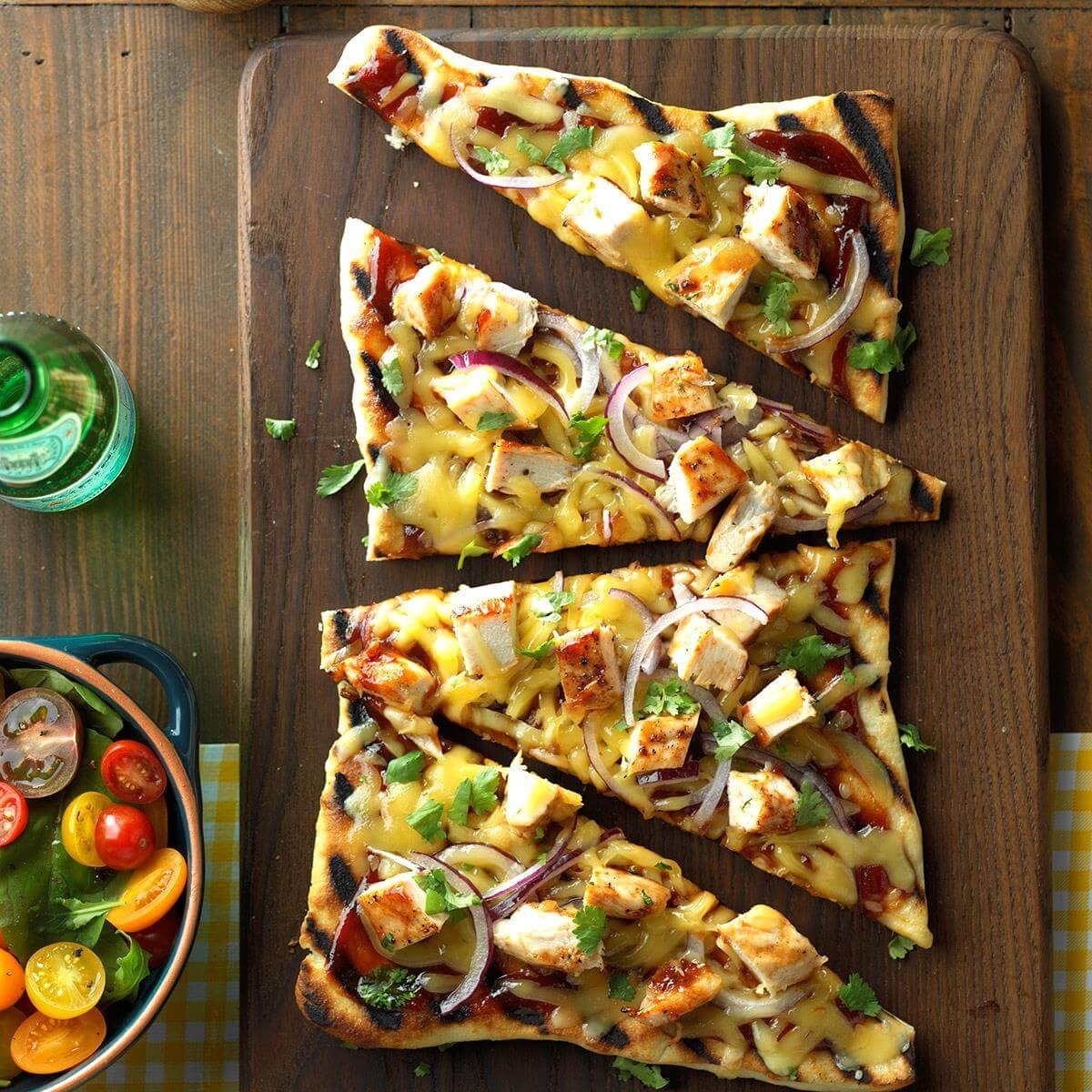 Barbecued Chicken Pizzas Recipe Taste Of Home