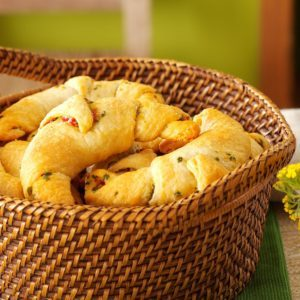 Basil & Sun-Dried Tomato Crescents
