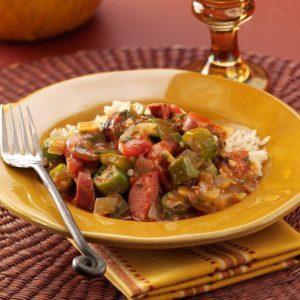 Bayou Okra Sausage Stew