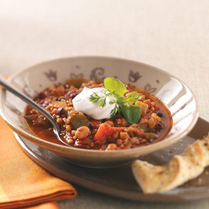 Bean & Bulgur Chili