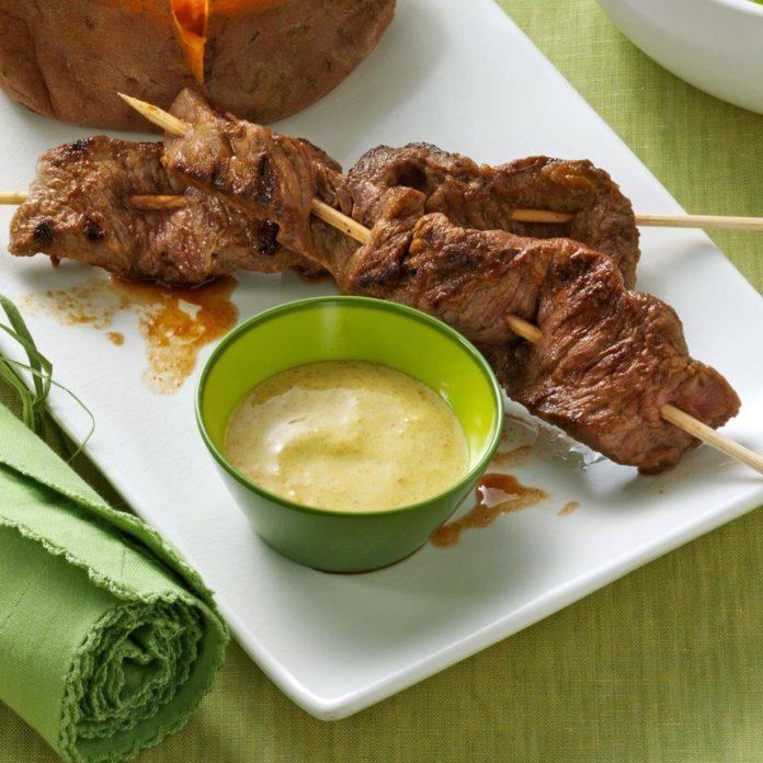Beef Kabobs with Chutney Sauce