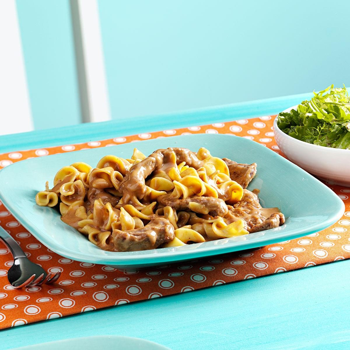 Watch Steak with Orzo and Stroganoff Sauce video