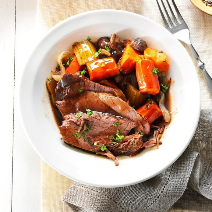 Beer-Braised Roast with Root Vegetables