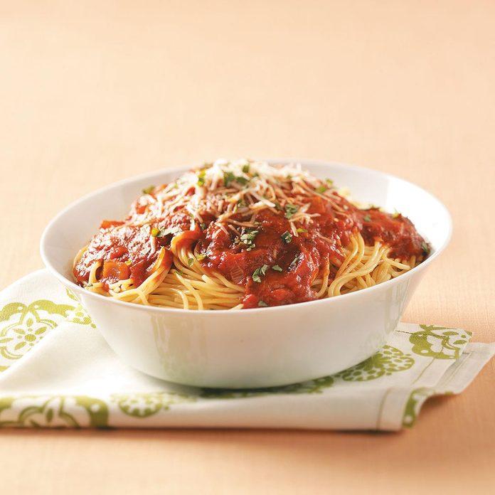 Pre-cook pasta.