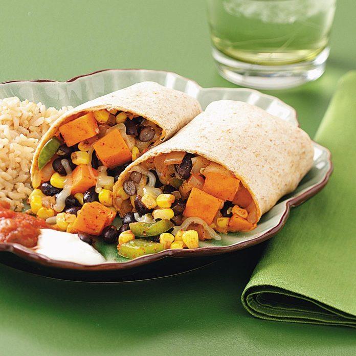 Black Bean Veggie Burritos