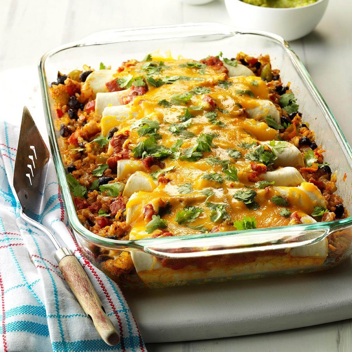 Top 10 Mexican Dinner Recipes: Black Bean And Rice Enchiladas Recipe
