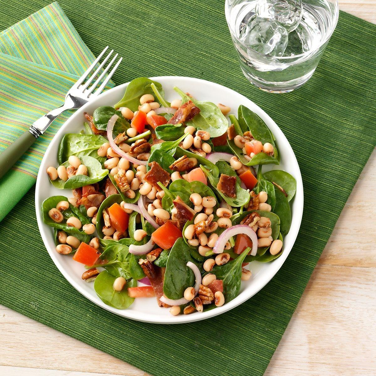 Black Eyed Pea Spinach Salad Recipe Taste Of Home