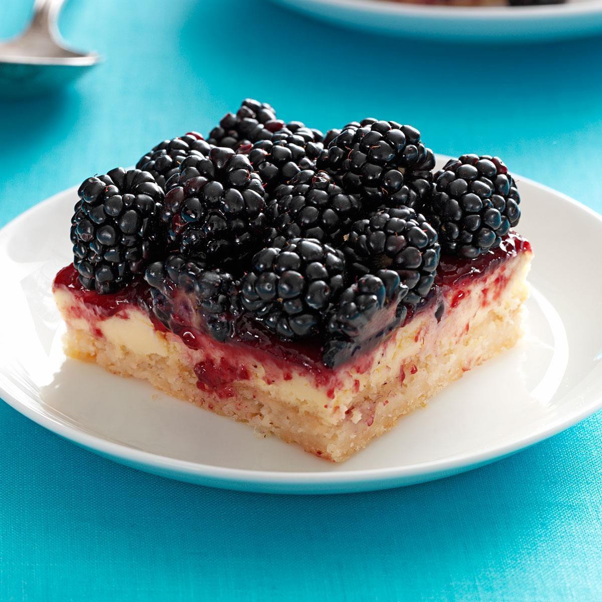 Blackberry Dessert Recipes: Blackberry Cheesecake Bars Recipe