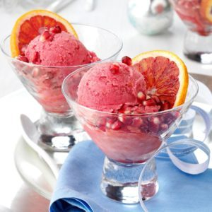 Blood Orange-Pomegranate Sorbet
