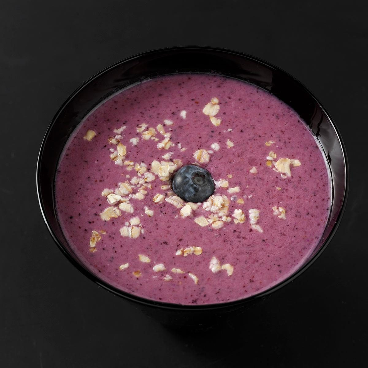 Blueberry-Oat Smoothies