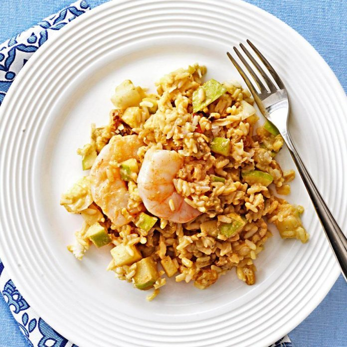 Bombay Rice with Shrimp