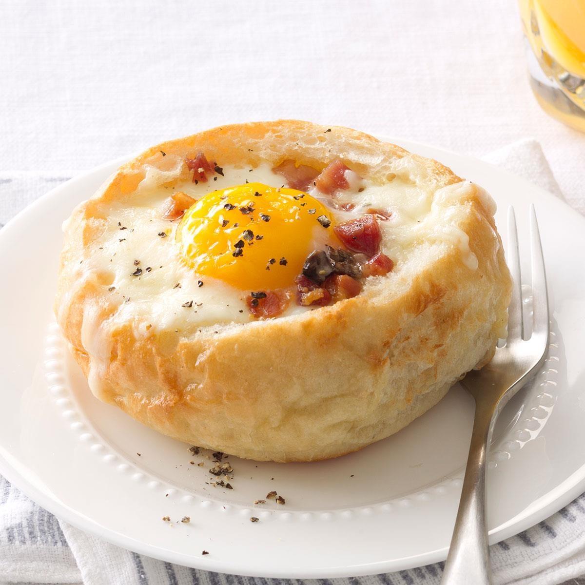 Breakfast Bread Bowls Recipe