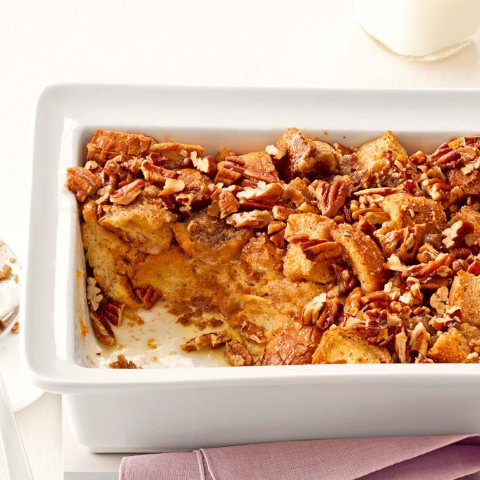 Breakfast Praline Bread Pudding