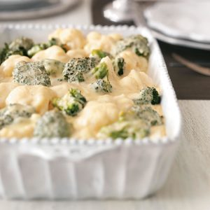 Broccoli-Cauliflower Cheese Bake