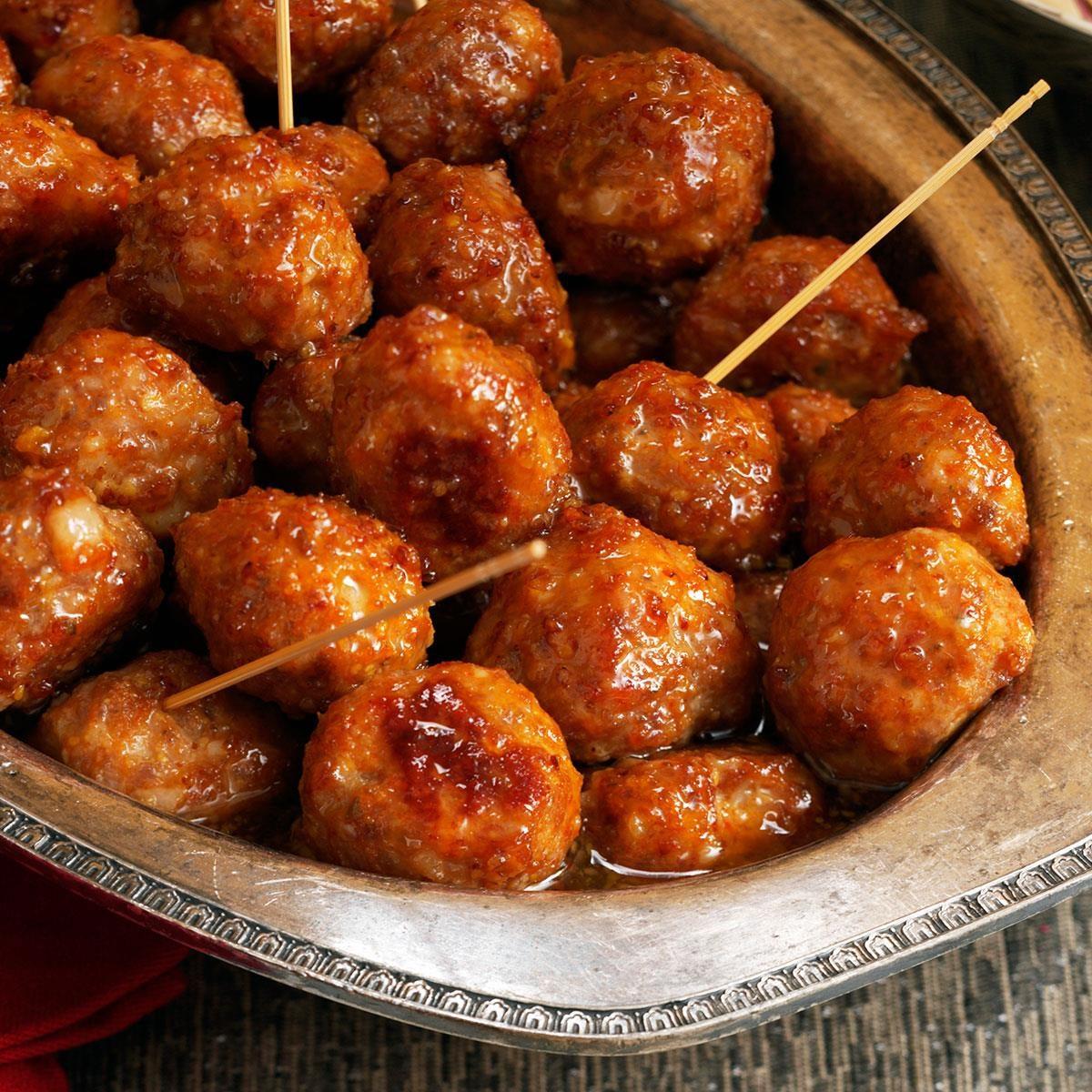 Brown Sugar-Glazed Meatballs Recipe